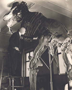 Brown and his T. rex