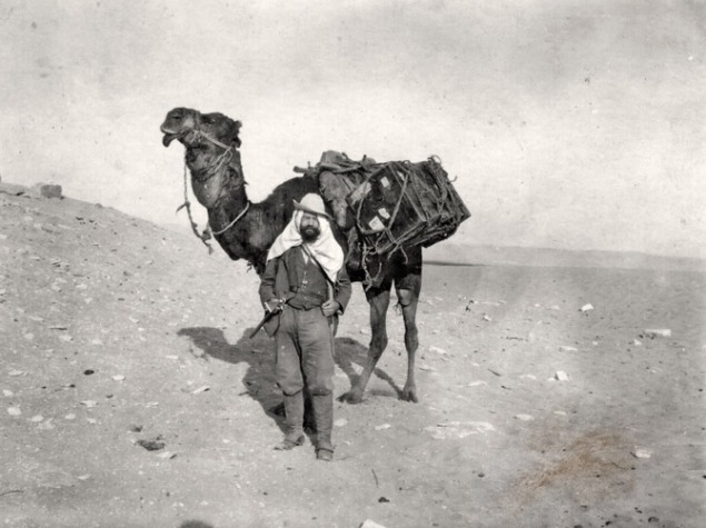 Ernst Stromer in the Sahara / National Geographic